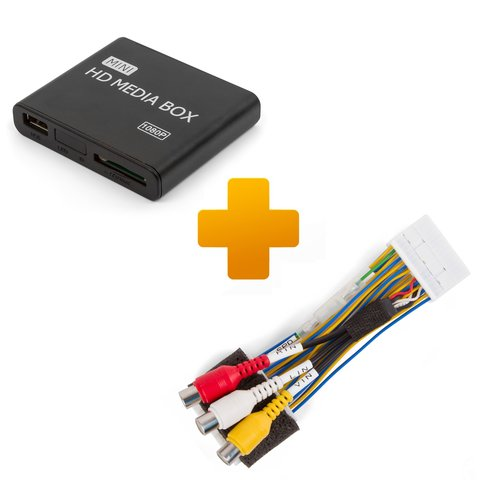 Multimedia Full HD Player and Connection Cable Kit for Toyota Citroen Peugeot X Touch X Nav Monitors