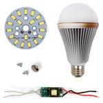 Juego de piezas para armar lámpara LED SQ-Q24 5730 E27 9 W – luz blanca fría