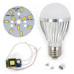 Juego de piezas para armar lámpara LED regulable SQ-Q02 5730 5 W (luz blanca cálida, E27)