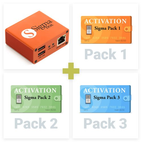 Sigma Box з набором кабелів + Активації Pack 1, 2, 3 для Sigma