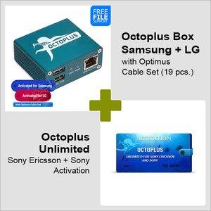 Octoplus Box Samsung + LG с набором кабелей Optimus + Активация Octoplus Unlimited для Sony/Sony Ericsson