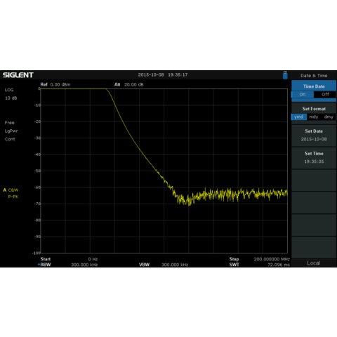 Трекінг-генератор SIGLENT TG-SSA3000X для аналізаторів спектру SSA3000X