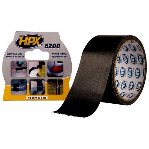 Стрічка армована одностороння HPX 6200, 50 мм, 25 м, чорна
